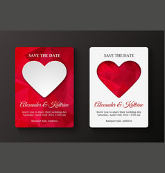 save the date card template vector image