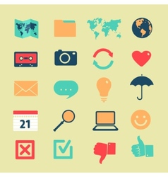 set symbols widgets vector image