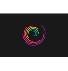 Spiral design logo Round logo design Creative vector image