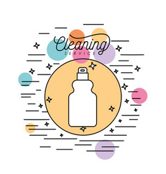 spray bottle cleaning service silhouette in vector image