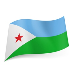 State flag of Djibouti vector