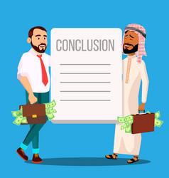 Successful business agreement cartoon vector