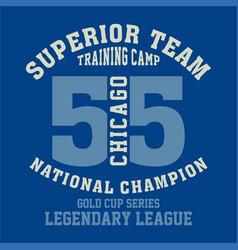 Superior team chicago vector