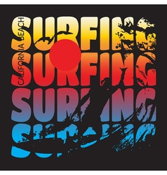 surfing t-shirt design vector image