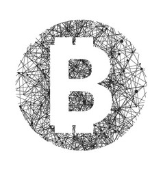 symbol of bitcoin technology vector image