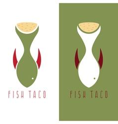 Taco fish mexican food design template vector