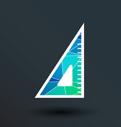The ruler triangle icon button logo symbol concept vector