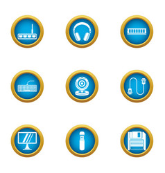 Time for change icons set flat style vector
