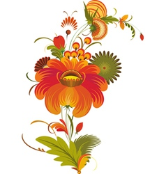 Traditional Flowers Isolated vector image vector image