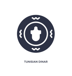 Tunisian dinar icon on white background simple vector