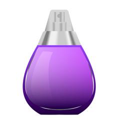 Violet perfume bottle mockup realistic style vector