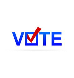 Vote sign with check mark vector