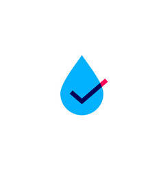 water drop check logo icon vector image