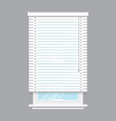 White window blinds isolated vector