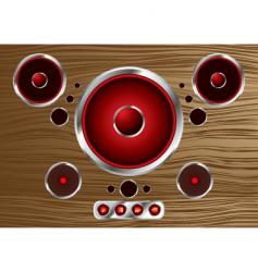 Wood speaker vector