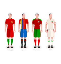 World cup group b jerseys kit vector