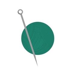 yarn ball with needles vector image