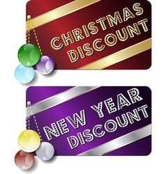 year discount cards vector image