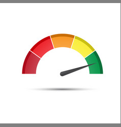 color tachometer with a pointer in the green part vector image