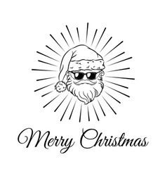 santa claus weared black sunglasses vector image vector image