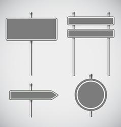 Blank grey metal arrow boards collecion vector image vector image