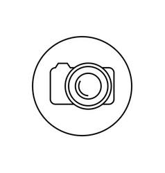 round contour icon camera vector image