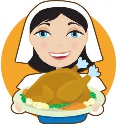 turkey pilgrim vector image vector image