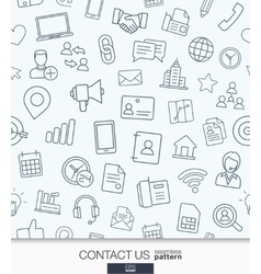 Contact us wallpaper Black and white vector image vector image