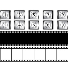 Film strips and countdown vector image
