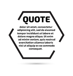 Quote text bubble Template set vector image