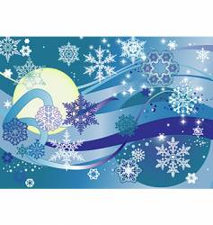 snowynight vector image vector image