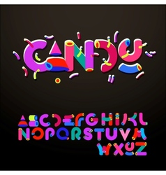 Stylized candy-like alphabets vector image