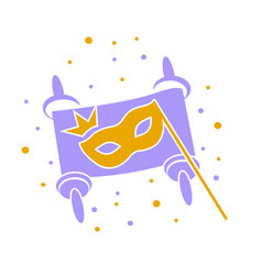 concept of purim as scroll vector image