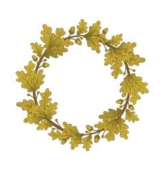 Gold Oak Wreaths vector image