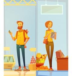 Happy Cartoon Buyers Vertical Banners vector image vector image