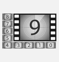 movie countdown numbers set vector image