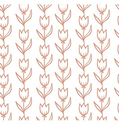 seamless pattern with tulips backdrop Endless vector image vector image