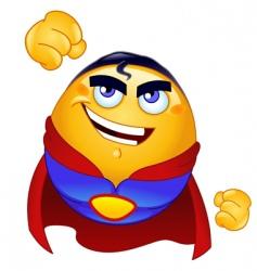 super hero emoticon vector image vector image