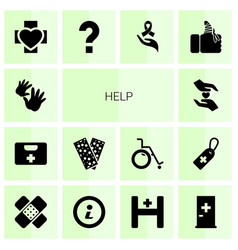 14 help icons vector