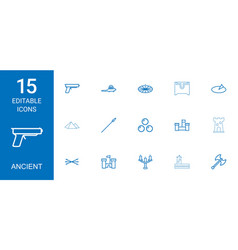 15 ancient icons vector