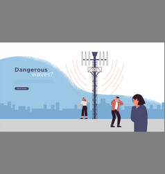 5g tower health risk danger template concept vector