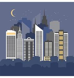 a city at night vector image