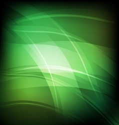 Abstract background with green line wave vector