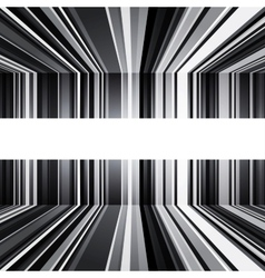 Abstract black and white warped stripes background vector