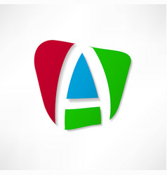Abstract icon based on the letter a vector