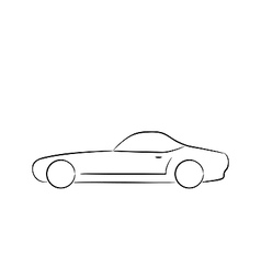 Abstract sport car profile silhouette vector image