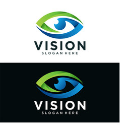 abstract vision logo image vector image