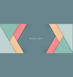 Abstract wide digital pastel overlap paper cut vector