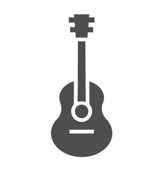 Acoustic guitar glyph icon music and string vector