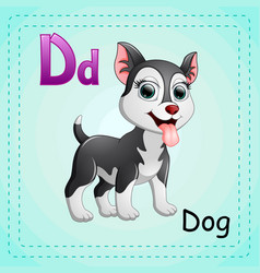animals alphabet d is for dogs vector image